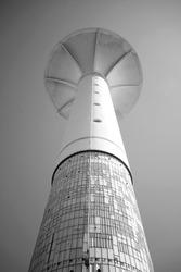 lighthouse in Üsküdar.Istanbul black white lighthouse tower