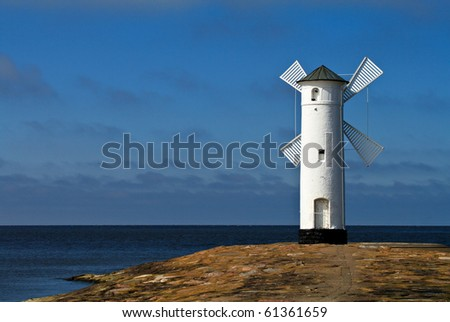Lighthouse in Swinemuende (Poland).