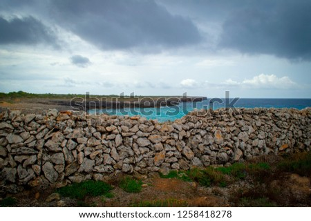 Lighthouse in the thunderstorm. Cala n'Bosch. Minorca  Foto stock ©