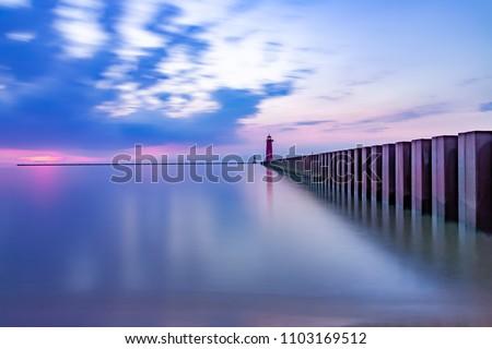 Lighthouse Lake Michigan