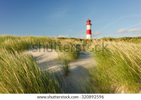 Lighthouse List East, Ellenbogen, Sylt, Schleswig-Holstein, Germany