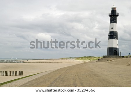 Lighthouse near Breskens in the Netherlands