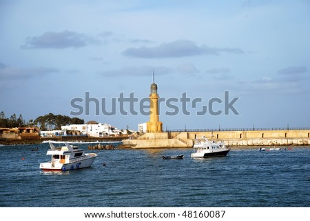 Lighthouse of Alexandria in the place of legendary pharos