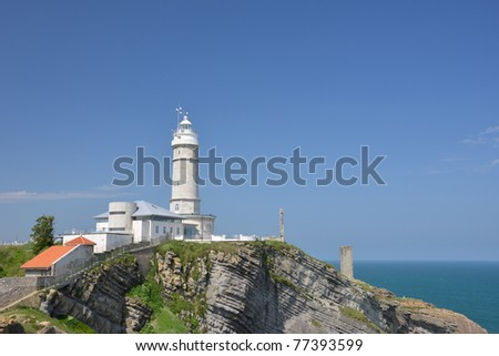 Lighthouse of Cabo Mayor in the coast of Santander