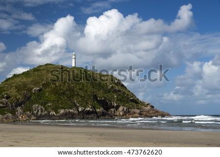Lighthouse of Farol das Conchas, Ilha do Mel, Paranagua, Parana State, Brazil