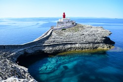 Lighthouse of Madonetta, Bonifacio, south of Corsica, France