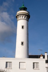 Lighthouse of Quiberon in Morbihan in Brittany
