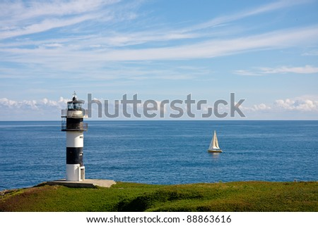 Lighthouse of Ribadeo in Galicia, Spain
