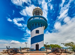 Lighthouse of Santa Anna fort Las Penas district landmark of Guayaquil Ecuador in south america