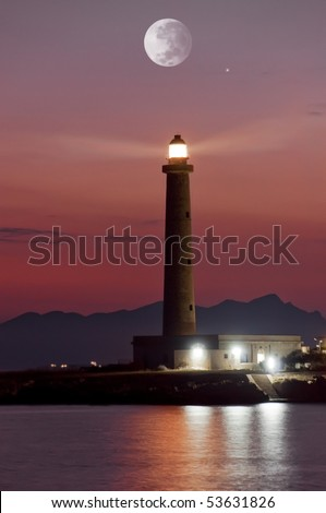 lighthouse of the Favignana island