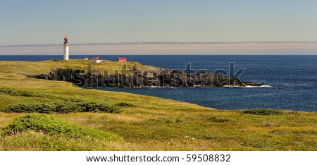 Lighthouse off the east coast of Newfoundland, Canada