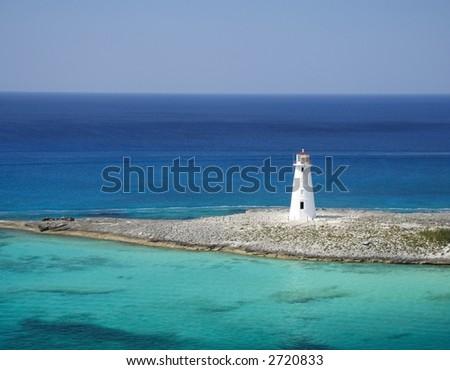 Lighthouse on a caribbean island