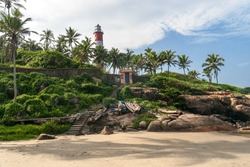 Lighthouse on Kovalam Beach