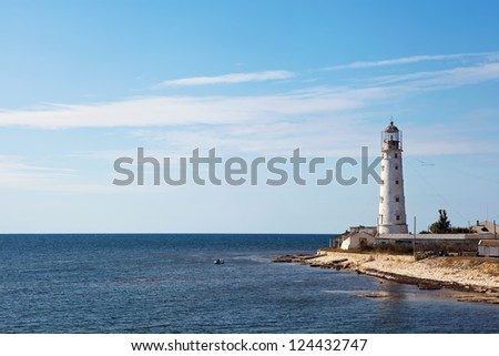 lighthouse on the coast of the sea