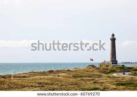 Lighthouse on the Danish coast