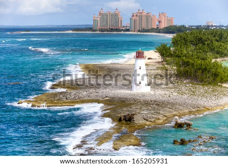 Lighthouse on the Paradise Island, Bahamas