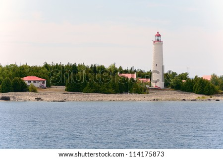 Lighthouse overlooking the Georgian bay, Ontario Canada