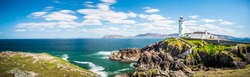 Lighthouse Panorama in Ireland,Sea, Ocean, Coast, Atlantic, Cliffs, Rock, Landscape, Nature