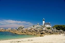 Lighthouse Phare de Pontusval in Bretagne France