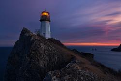 Lighthouse. Seascape. Russian Far East. Japan (East) Sea.