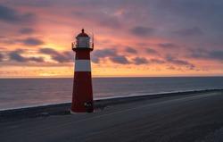 Lighthouse westkapelle in zeeland netherlands