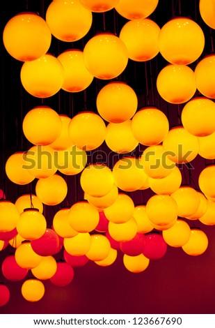 lighting bulb overhead in Chinese holiday season