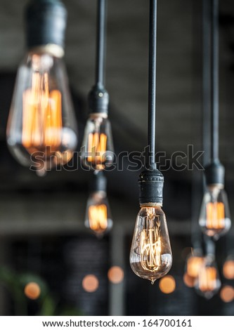 Lighting decor - Shutterstock ID 164700161