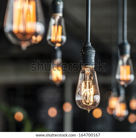Lighting decor - Shutterstock ID 164700167