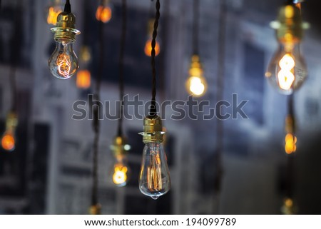 Lighting decor - Shutterstock ID 194099789