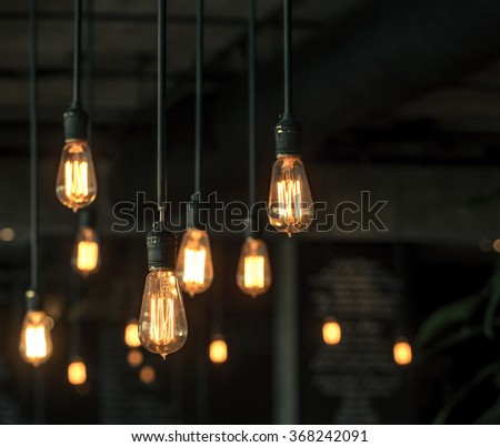 Lighting decor - Shutterstock ID 368242091