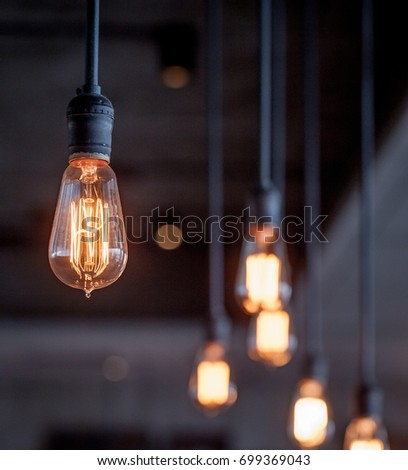 Lighting decor - Shutterstock ID 699369043