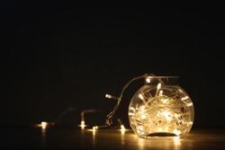 Lighting decor, lights in a glass