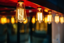 Lighting decoration with vintage bulbs - eclectic interior