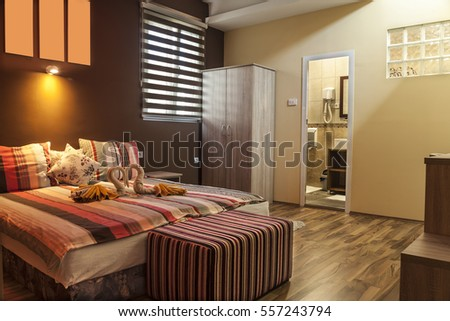 Lighting Equipment, Electric Lamp, Pillow, Hotel Room, Hotel #557243794