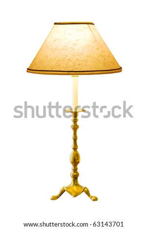 Lighting home lamp isolated on white background