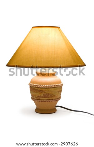 Lighting lamp, isolated on white background, clipping path