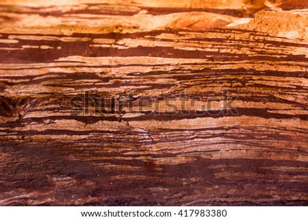 Lighting of beautiful rock formation archeology earth Australia for background and texture