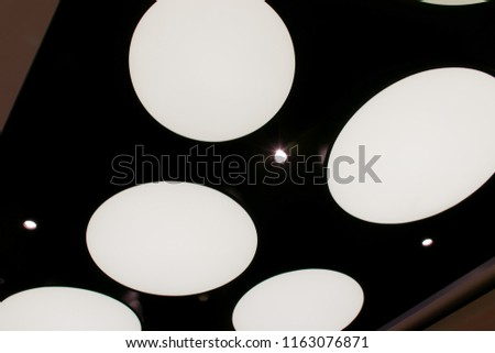 Lighting on modern ceiling ,Modern Style in dark tone.Lighting on modern ceiling ,Modern Style