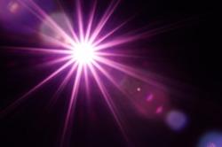 Lighting purple flare abstract