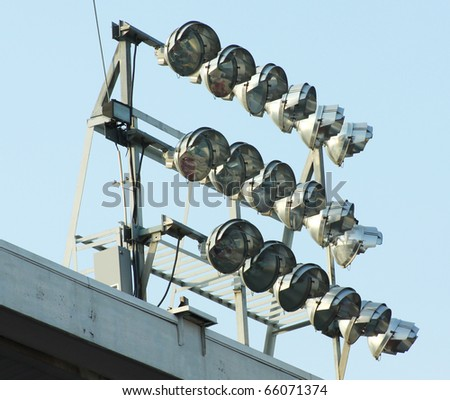 stock photo lighting system for amateur sports field off in a stadium 66071374 Pregnant sex video (29+)   superstock r