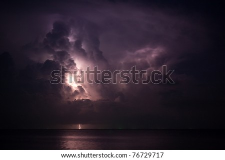 lightning above the sea