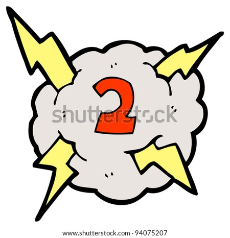 lightning cloud cartoon number two (raster version)
