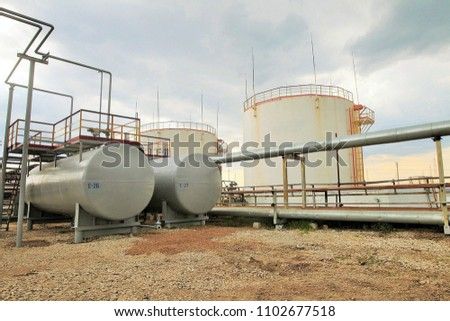 Lightning conductors in oil storage. Reservoirs at the chemical plant #1102677518