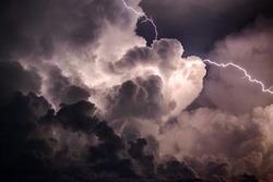 Lightning during a thunder storm