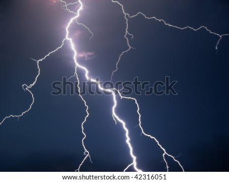 Lightning in a dark night