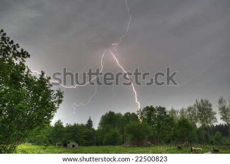 Lightning in afternoon