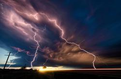 Lightning in the fields