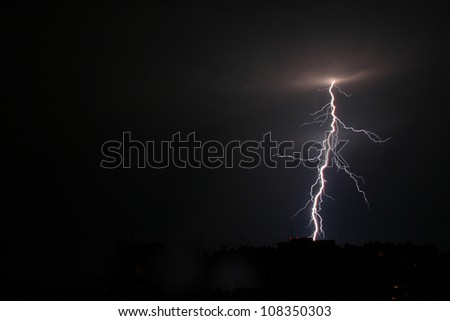 Lightning in the night.