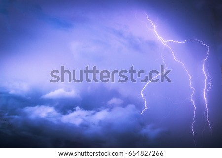 Lightning in Thunderstorm