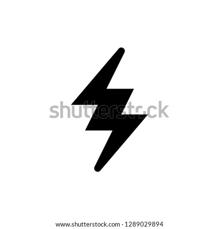 Lightning modern icon isolated on white